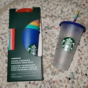 Starbucks Color-Changing Cups + Confetti Cup New